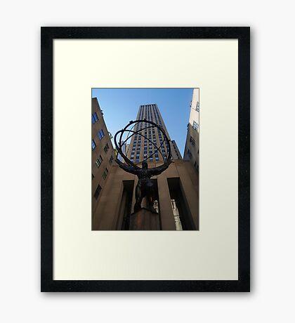 Atlas in the Sun, 30 Rock Framed Print