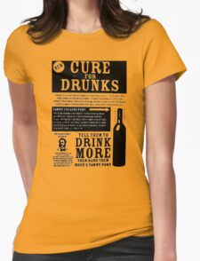 CURE FOR DRUNKS COCAINE PORT VINTAGE ADVERT Womens Fitted T-Shirt
