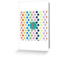 Polka Dot F Greeting Card