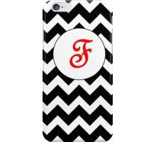 Red F Chevron iPhone Case/Skin