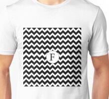 F Black Chevron Unisex T-Shirt