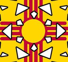 New Mexico flag snowflake Sticker