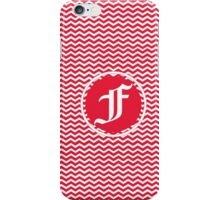 F Red Chevron iPhone Case/Skin