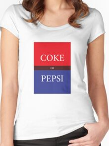 COKE or PEPSI Women's Fitted Scoop T-Shirt