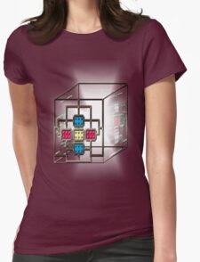 Electronic square light core Womens Fitted T-Shirt