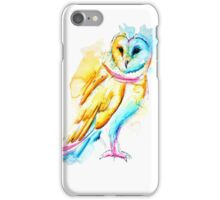 Snow Owl Watercolor iPhone Case/Skin