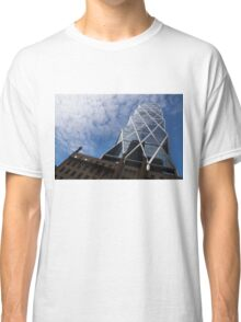 Lines, Triangles and Cloud Puffs - Hearst Tower in Manhattan, New York City, USA Classic T-Shirt
