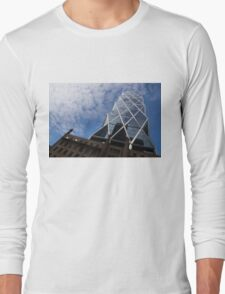 Lines, Triangles and Cloud Puffs - Hearst Tower in Manhattan, New York City, USA Long Sleeve T-Shirt