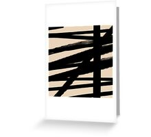 BLACK AND BEIGE Lines Graphic P. Soulages Spirit Greeting Card