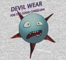 Devil Wear distressed cartoon face One Piece - Short Sleeve