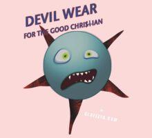 Devil Wear distressed cartoon face One Piece - Long Sleeve