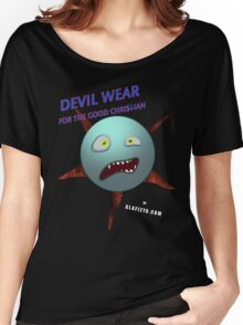 Devil Wear distressed cartoon face Women's Relaxed Fit T-Shirt