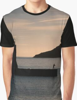 Collioure harbour and quay. Graphic T-Shirt