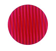 Red disc Photographic Print