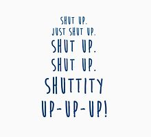 Shut Up Twelfth Doctor Twelve Doctor Who Quote Womens Fitted T-Shirt