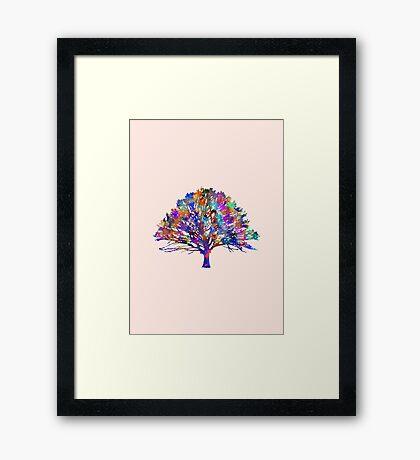 Watercolor Tree Framed Print