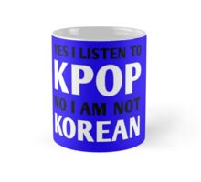 I LISTEN TO KPOP - BLUE Mug