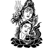 Shiva parvati ji Photographic Print