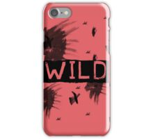 Wild Watercolor Lion Grunge Print Red iPhone Case/Skin
