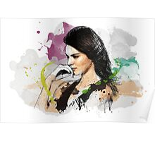 Kendall Jenner Painting Poster