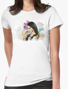 Kendall Jenner Painting Womens Fitted T-Shirt