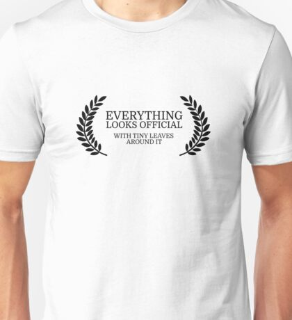 Festival Funny Movies Comedy Quote Clever Smart Unisex T-Shirt