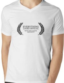 Festival Funny Movies Comedy Quote Clever Smart Mens V-Neck T-Shirt