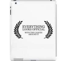 Festival Funny Movies Comedy Quote Clever Smart iPad Case/Skin