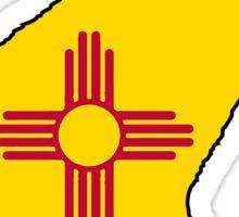 New Mexico flag cat Sticker