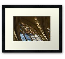 Glorious, Colorful Sunlight - Stained Glass Church Windows in a Royal Chapel in Paris, France Framed Print