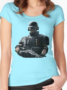 Rainbow Six Siege *Castle* Women's Fitted Scoop T-Shirt