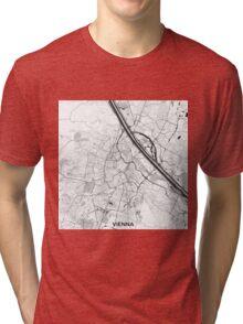 Vienna City Map Gray Tri-blend T-Shirt