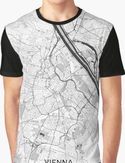 Vienna City Map Gray Graphic T-Shirt