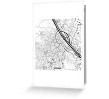 Vienna City Map Gray Greeting Card