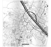 Vienna City Map Gray Poster