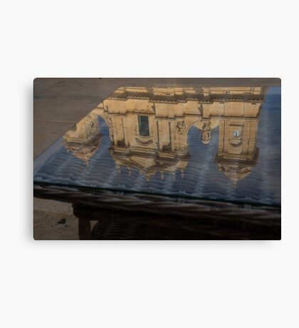 Reflecting on Noto and the Beautiful Sicilian Baroque Style Canvas Print