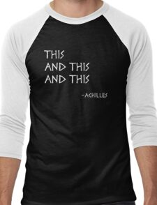 This and This and This Men's Baseball ¾ T-Shirt