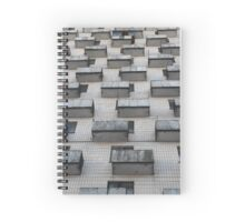 Balconies abstract city background Spiral Notebook