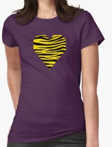 0291 Golden Yellow Tiger Womens Fitted T-Shirt