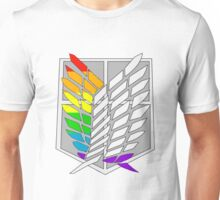 Wings of Freedom Pride Flags- Gay/Lesbian Unisex T-Shirt