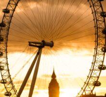 Framing a London Sunset Sticker