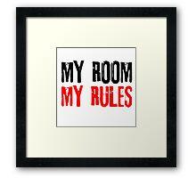 My Room My Rules Kids Punk Rock Mum Dad Family Grunge Framed Print