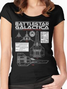 BATTLESTAR GALACTICA COLONIAL VIPER Women's Fitted Scoop T-Shirt