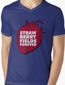 Strawberry Fields Forever T-shirt Mens V-Neck T-Shirt