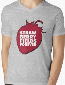 Strawberry Fields Forever T-shirt Mens V-Neck T-Shirt