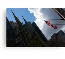 New York City Stars and Stripes Canvas Print