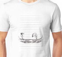 Stick Figures on Gondola Boat Unisex T-Shirt
