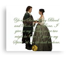Outlander Wedding Vow Canvas Print