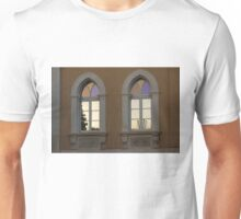 Iridescent Pastels at Sunset - Syracuse Arched Windows Unisex T-Shirt