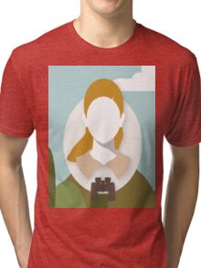 Wes Anderson - Moonrise Kingdom - Kara Hayward - Suzy Tri-blend T-Shirt